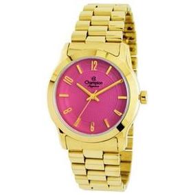 483c5f0fbd5 Relógio Champion Feminino Aço Rosa . Cw28009h - Relógios De Pulso no ...