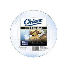 40 Platos 9in Alimentos Cristal Transparente Desechables Fie. Nuevo León ·  Chinet Cristal Cortado Platos 3cab90a371b2
