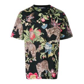 Dolce & Gabbana - Playera Con Estampado De Leopardos (ss18)