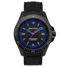 Relógio Nautica Masculino Borracha Preta - Napmau007