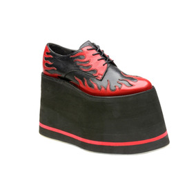2268bcd8 Zapatos De Plataforma Alta Para Dama Exóticos Flamas Muro