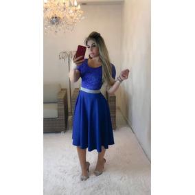 Vestido Midi Moda Evangélica Godê Duplo Plus Size Renda Crep