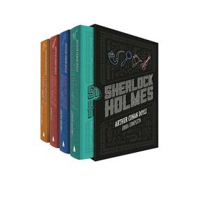 Box Livro Sherlock Holmes Obra Completa 4 Volumes Lacrado