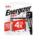 Pilas Aa Alcalinas Energizer Blister 4 Unidades