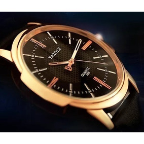 5de4d7f083f Relogio Quartzo Relogio Militar Preto Com Dourado - Relógios De ...