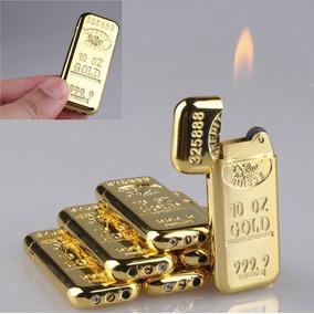 Isqueiro Barra De Ouro Modelo Luxuoso A Gás Estiloso Zippo