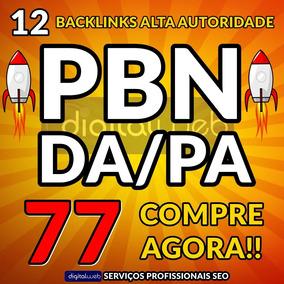 Comprar Backlinks 12 Pbn Alto Pa/da Dofollow Permanente Seo