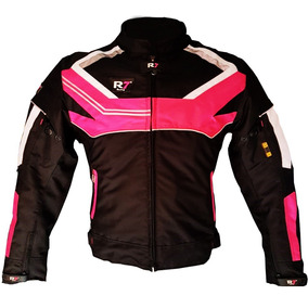 0ae4aa3156d Chamarra Deportiva R7 Racing Negro Rosa R7 247 Dama Textil M