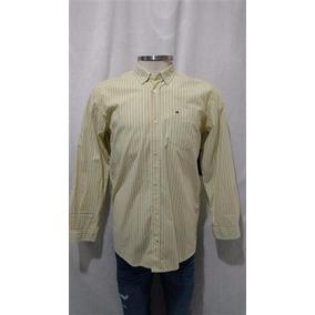 6920ac39d9 Camisa Social Tommy Hilfiger Amarela - Calçados