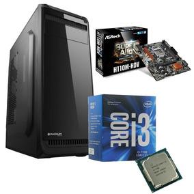 Pc Oficina Intel Core I3-7100 16gb 1tb Hdd Fuente 500w