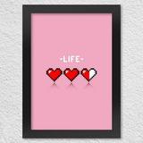 Poster Com Moldura Life