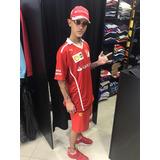 Camiseta Camisa Polo Ferrari Santander Gola V Masculino
