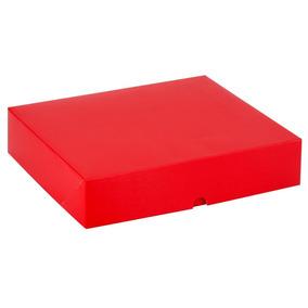 Caixa Para Presente Desmontável P-02 Lisa Vermelha 23,7x18