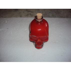 Vidro Crânio Caveira Vermelha, Decorativo Ou Beber Cerveja