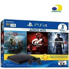 Playstation Sony 4 Ps4 Play 4 Slim 1tb Hits Bundle Novo