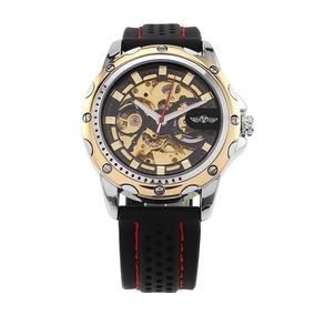 72bff4ef757 Relogio Automatico Pulseira De Silicone Masculino T318 - Relógios De ...