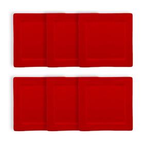 Platos Cuadrados Rojos 25x25cm Fabrica - Artículos de Bazar en ... 5d9081a0415d