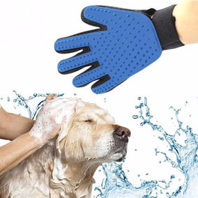 Luva Escova Limpeza Tira Pelo Massagem Pet Cachorro Gato