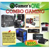 Computador Gamer Amd Ryzen Ram 8gb Ds 240gb Case Con Ven