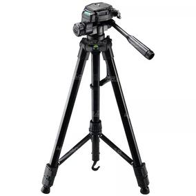 Tripe Para Câmera Preto Alumínio Ajustável Vloger 1.60m