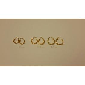 Arracadas Oro 3 Pares De 1.4, 1.2 Y 1 Cm Diam. Envio Gratis