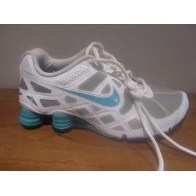 wholesale dealer dc905 bd235 Tenis Nike Shox Turbo Color Bco Aqua Talla 25cm C490