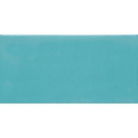 Cerámica Acuarela Azulejo Turquesa 7,5x15 Cm