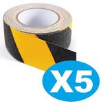 Pack X5 Cinta Seguridad Antideslizante 5 Metros