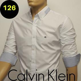 658a88ad8384c Camisa Calvin Klein Masculina Cinza Claro Nova Coleção Tm G - Camisa ...