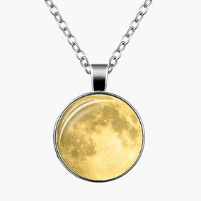 Collar Con Dije Luna 3d Brilla En La Noche Con Envio