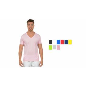 Kit 4 Camisetas Masculinas Decote V Maior 21806 Poliéster 95617e1328d45
