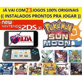 New 2ds Xl + 23 Jogos Originais + 32gb Pokemon, Mario, Zelda