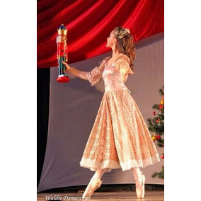 Figurino Ballet Clara Quebra Nozes Vestido Fantasia Rosa