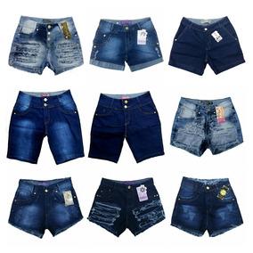 Roupas Femininas Atacado Kit De 02 Bermuda Jeans Feminina