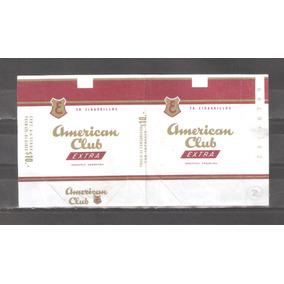 American Club Cigarrillos Marquilla Caja Antigua Nº2
