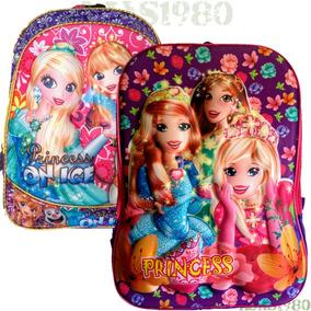 Mochila Infantil Personagens Princesa Disney Escolar Criança