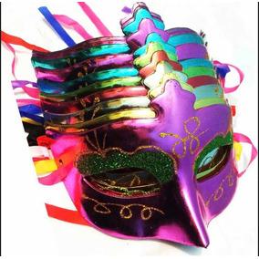 10 Antifaces Plastico Fiesta Batucada Boda Quinces Animacion