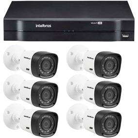 Kit Cftv 6 Câmeras Segurança Hd 720p Dvr Intelbras 1008 Mult