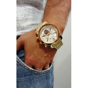 70c9f9f0ad7 Relogio Masculino Pesado Grande Dourado Ou Prata - Relógio Masculino ...