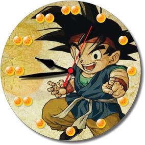 7348ceb1a40 Relógio Parede Dragon Ball Desenho Animado Goku Esferas 30cm