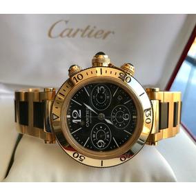 Cartier Pasha Seatimer Ouro Amarelo 2014.completo. Impecável