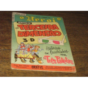 O Heroi 1ª Serie Nº 81 Extra 3-d Jan 1954 Ebal Original