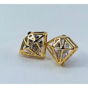 810acb740165 Aretes De Oro En Forma De Lagrima Con Diamante - Joyería en Mercado ...