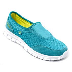 Tenis Charly Confort Azul Verde