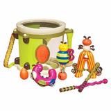 Tambor Parum Pum Pum Drum Set 7 Instrumentos Música B Toys