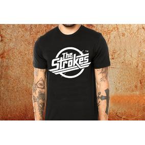 d9fc3d570e Camiseta The Strokes Camisa Blusa Preta Banda Rock R47