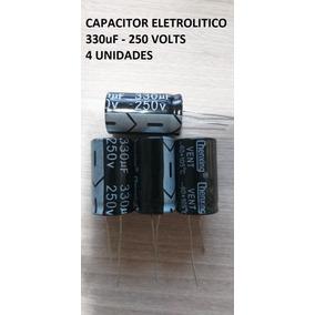 4 Unid Capacitor Eletrolítico 330uf 250v 105° Pronta Entrega