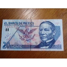 Cédula 20 Veinte Nuevos Pesos El Banco De Mexico .obc Store