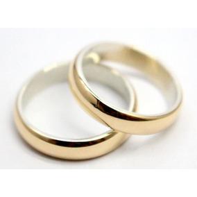 cc4b5b70de610 Par Alianzas Italianas Plata 925 Oro18k. 2gr Casamiento Gtia
