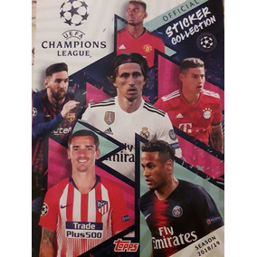Champions League 2018 2019 Album + 250 Figurinhas Para Colar